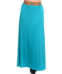 This Emerald Tribal-Accent Maxi Skirt - Women by Ami Sanzuri is perfect! #zulilyfinds