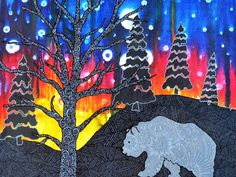 """Northern Nights"" a unique Northern Canadian perspective by Lori Lynn Fell — Kickstarter. Help make it possible to share the Northern Canadian art of Lori Lynn Fell with everyone, everywhere. Northern Nights, Canadian Art, Autumn Art, Giclee Print, Perspective, Art Projects, Moose Art, Fine Art, Bears"
