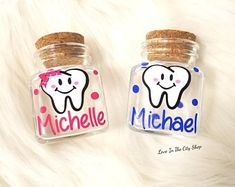 Your place to buy and sell all things handmade Tooth Fairy Jar Personalized Tooth Jar Baby Tooth Storage Tooth Fairy Note, Tooth Fairy Receipt, Tooth Fairy Pillow, Tooth Fairy Doors, Tooth Fairy Certificate, Fairy Gifts, Fairy Jars, Baby Keepsake, Diy For Girls