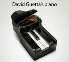 El piano de David Ghetta.