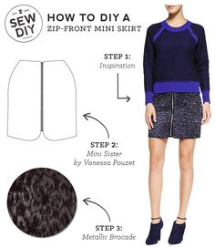 DIY Outfit – Zip Front Skirt — Sew DIY