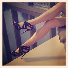 Gotta love strappy criss-crossy black heels.