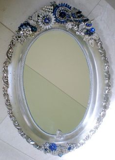 find this pin and more on blinged out mirrors - Decorated Mirror