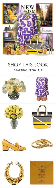 """""""City Glow"""" by sheavschaaf ❤ liked on Polyvore featuring Coffee Shop, Paul Frank, Lumière, Diane James, Walter Van Beirendonck, Etro, Gucci, Monies, Dogeared and Chanel"""