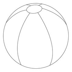 Free Beach Ball pattern/template | Patterns for Cards ...
