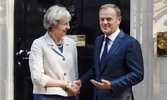 'Hard Brexit or no Brexit': Donald Tusk, president of the European Council, on a visit to Downing Street last month.