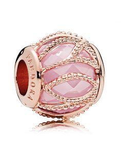Pandora UK Rose Gold Pink Cz Intertwining Radiance Charm