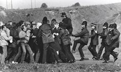 Miners and police clash in what became known as the Battle of Orgreave. Photograph: Don McPhee for the Guardian Uk History, British History, World History, History Facts, British Steel, Red Scare, Billy Elliot, Research Images, Truth And Justice