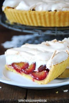 Plum Jam, Polish Recipes, Camembert Cheese, Cake Recipes, Cheesecake, Good Food, Food And Drink, Low Carb, Sweets