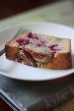 Fig, raspberry almond cake