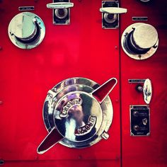 Panel from a 1950s American fire engine.