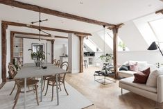 Attic Apartment in Gothenburg by Bjurfors Göteborg | HomeAdore