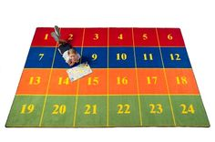 Classroom Seating Rug With 24 Squares SOFT