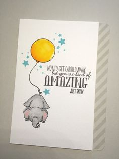 Watercolor birthday card featuring the WPlus9 Unforgettable Stamp Set