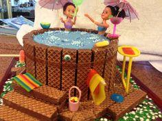 Hot Tub Cake 11th Birthday, First Birthday Parties, Cupcakes, Cupcake Cakes, Fondant, Cake Pictures, Cake Pics, Splash Party, Dad Cake