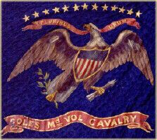 Regimental flag of Cole's Cavalry (1st 1st Potomac Home Brigade) Union.