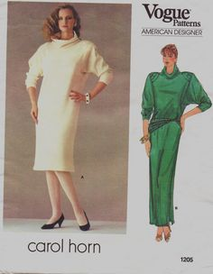 80s Vogue American Designer Pattern 1205 Carol Horn by CloesCloset, $14.00