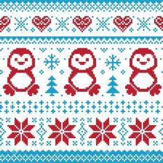 Weihnachten und Winter Strickmuster, card - scandynavian Pullover Stil