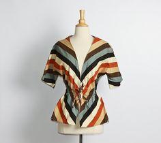 vintage 1970s Striped Shirt