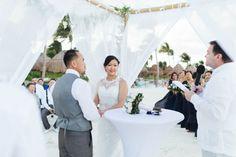 Judy and John's Destination Wedding in Cancun, Mexico with Lee Vue for www.adrianaweddings.com| Cancun | Mexico weddings | Wedding photography | Wedding photographer | Luxury wedding | hotels | venues | wedding planning tips | wedding planning advice | honeymoon | wedding dress | groom | bride | bridal | beach wedding |