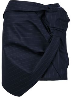 La Jupe Cravate Skirt in Navy