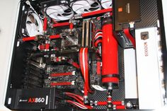 Rig of the day - Red ICE - ocaholic - News - ocaholic Water Cooling, Pc Computer, Swagg, Rigs, Computers, Gaming, Tech, Wedges, Videogames