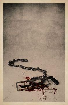 Jogos Mortais (Saw) - 10 Posters minimalistas de filmes de terror | Blog 365 Filmes