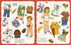 Canción de la vida profunda: vintage Paper doll, papír baba, öltöztethető baba