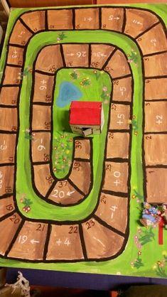 Begeleide of zelfstandige activiteit - Roodkapje rekenspel. .Wie is het eerst bij oma? Book Projects, Projects For Kids, Preschool Themes, Activities For Kids, Printable Board Games, Therapy Games, English Games, Alphabet Coloring, Too Cool For School