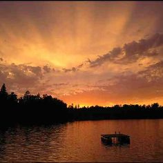 Sunset from Daisy Bay Resort. Lake Vermillion, MN