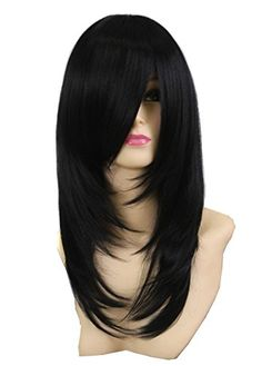 Icoser Sexy Women Synthetic Hair Wigs Black Vogue Wig Costume Cosplay and a Wig Cap Black and a Hair Comb >>> Click image for more details. (This is an affiliate link) Black Curly Wig, Black Wig, Long Curly, Anime Wigs, Wigs Online, Hair Comb, Hair Wigs, Cosplay Wigs, Anime Cosplay