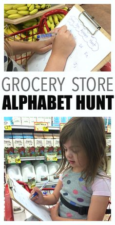 alphabet hunt at the grocery store!! Phonics!!