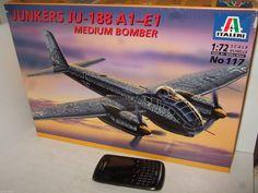 New Italeri 117 Junkers Ju-188 A1-E1 Medium Bomber Model Kit in 1:72 Scale.