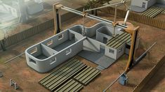 """The """"contour crafting"""" robotic construction system can 3-D print entire homes."""