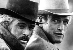 Paul Newman and Robert Redford are Butch Cassidy and the Sundance Kid