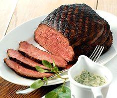 Rindshuft mit Brunnenkresse-Sauce Meat Love, Steak, Food, Mustard, Meat Rubs, Cress, Fountain, Beef, Healthy Eating Facts