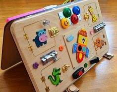 Occupé le Conseil des activités Conseil, Montessori, jouets en bois, planche sensoriel, jouet enfant Montessori, planche de verrou, jouets jouet enfant en bas âge en apprentissage, respectueux de l'environnement