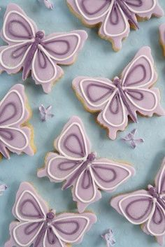 .---pretty, simple decorations for butterfly cookies