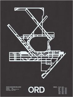 ORD: Chicago O'Hare International Screenprint – NOMO Design