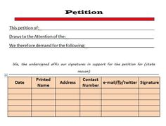 Petition template 07 | petition templates | Pinterest