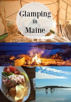 Glamping or glamorous camping is the biggest trend in travel. Try Maine glamping with Sandy Pines Campground.
