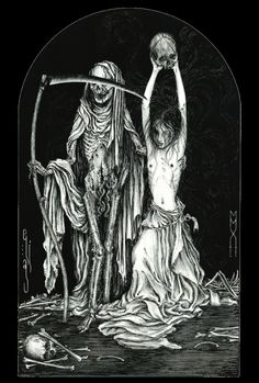 Death and the Maiden II (2012 / China ink on paper) - Elias Aquino