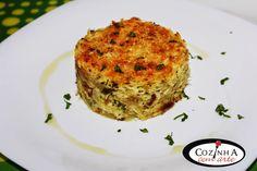 Cozinha com Arte: Bacalhau tipo Brás com molho branco e crosta de qu...