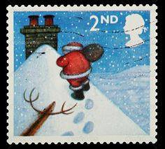 England Postage Stamps | British Christmas Postage Stamp c. 2004 | British Stamps
