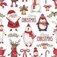Christmas Background with Polar Bear Cartoon - Christmas Illustration - Noel Christmas, Christmas Paper, Vintage Christmas, Christmas Crafts, Christmas Decorations, Christmas Ribbon, Christmas Design, Christmas Cookies, Christmas Wreaths