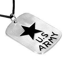U.S. Army Star Dog Tag Pewter Pendant Necklace Dan Jewelers. $13.57. Does not tarnish. Dan Jewelers has tens of thousands of positive feedbacks across the internet.. Hypoallergenic. Satisfaction guaranteed.. Good value