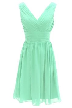 Amazon.com: Dressystar Short Bridesmaid Dress Chiffon Party Evening Dress: Clothing