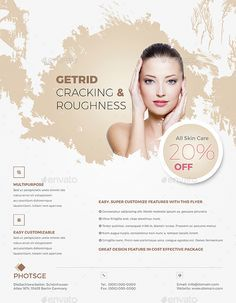 ad, advert, advertisement, beautiful, beauty, care, clinic, cosmetic, facial, flyer, foot, hair, health, magazine, make-up, men, nail, pamphlet, parlor, pink, pretty, products, salon, skin, soft color, spa, specialist, stylish, treatment, woman
