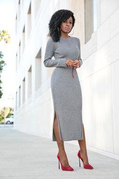 Ribbed Sweater Midi Dress Приглашаем Девушек на Работу в Турцию Заработок от 2000 usd.Кастинг http://escort-journal.com <3