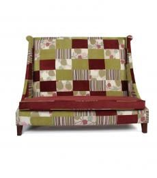High back patchwork sofa R7,000.00